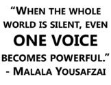 Malala Yousafzai Quote Poster
