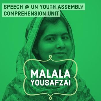 Malala Yousafzai UN Speech Activity Women's History & Int'l Women's Day QR Code