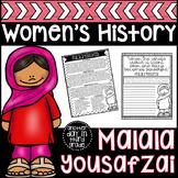 Malala Yousafzai Women's History Activities