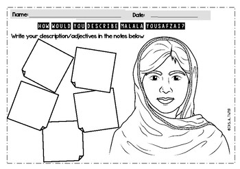 Malala Yousafzai  displays | poster