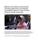 Malala Yousafzai's Speech to the United Nations: Rhetorical Analysis
