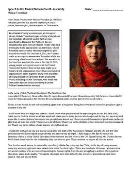 Malala Yousafzai's Speech to the United Nations Youth Assembly