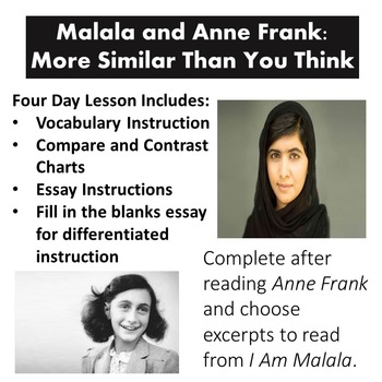 Malala and Anne Frank: More Similar Than You Think/ Reading and Writing
