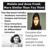 Malala and Anne Frank: More Similar Than You Think/ Readin