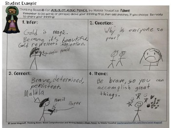 Malala's Magic Pencil: Thinking Boxes for Comprehension and Writing Gr. 2 & up