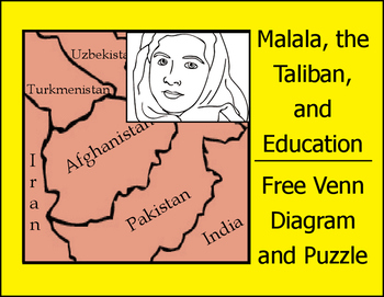 Malala, the Taliban, and Education - FREE Venn Diagram and Puzzle