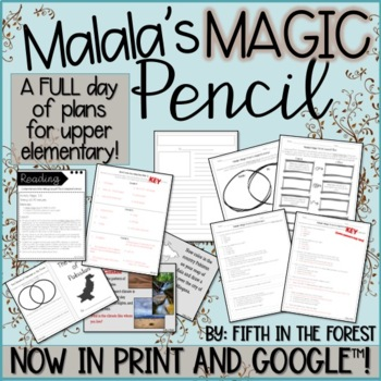 Malala's Magic Pencil FULL DAY of Lesson Plans