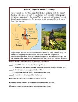 Malawi: Population & Economy Bell Ringer