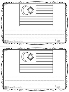 Malaysia Country Study   48 Pages for Differentiated Learning + Bonus Pages
