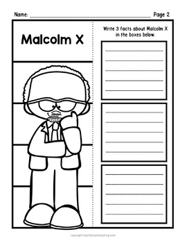 Malcolm X Research Organizers for Black History Month
