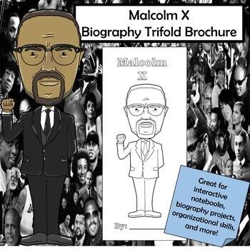 Malcolm X Biography Trifold Brochure