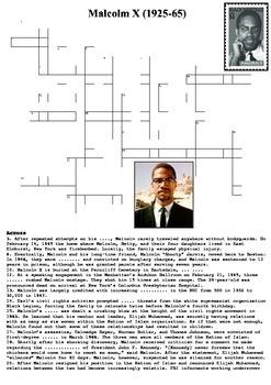 Malcolm X Crossword