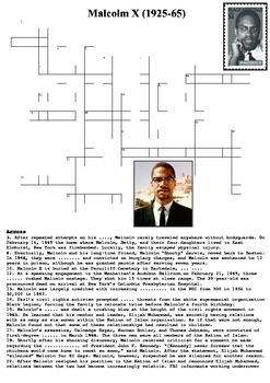 Malcolm X Crossword