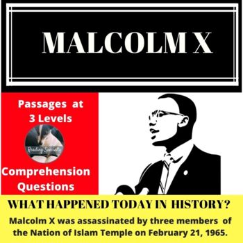 Malcolm X History Differentiated Reading Passage Feb 21
