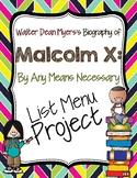Malcolm X List Menu Project