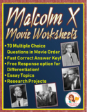Malcolm X Movie Worksheets, Essay Prompts, and Research Projects