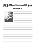 Malcolm X Notebooking Page