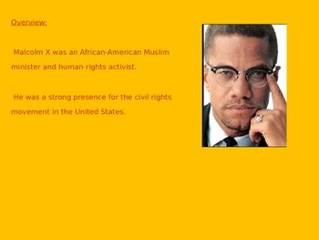 Malcolm X - Power point history facts