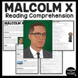 Malcolm X Reading Comprehension; Nation of Islam; Civil Rights Movement