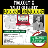 Malcolm X The Ballot or Bullet Speech Analysis Writing Act
