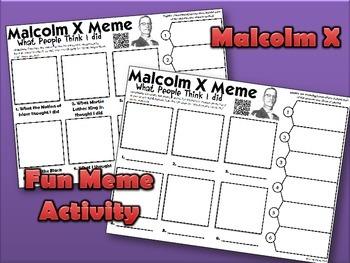 Malcolm X Meme Activity