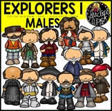 Male Explorers Clip Art Bundle  {Educlips Clipart}