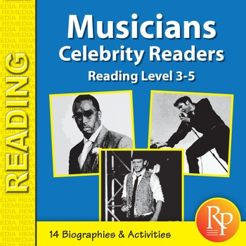 Male Musicians: Celebrity Readers