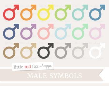 Male Symbol Clipart; Sign, Icon