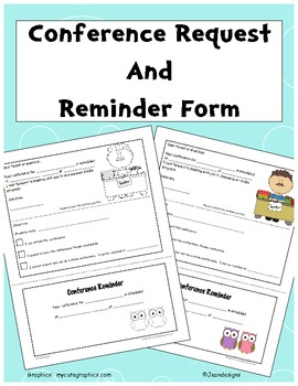 Male Teacher Conference Request and Reminder Form in Color / Black & White