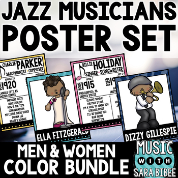 Men and Women of Jazz - Posters and Handouts {Color Bundle}