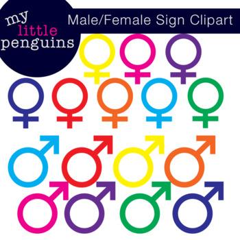 Male and Female Symbols Clipart (clip art)