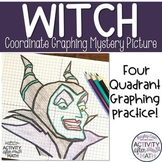Witch Coordinate Plane Graphing Mystery Picture Halloween Math