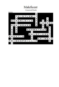 Maleficent - Crossword Puzzle