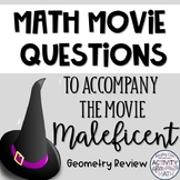 Math Movie Questions to accompany Maleficent! Great End of the Year Activity!