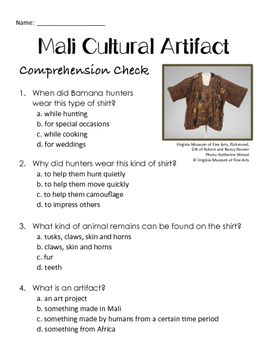 Ancient Mali Informational Text and Creative Activity