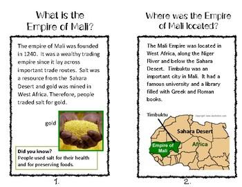Ancient Mali Student Book