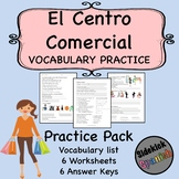 Mall / Shopping Spanish Vocabulary Worksheets (Así Se Dice Lev 1, Chapter 9)