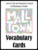Mall Town - Vocabulary Wall Cards Lessons