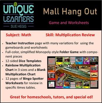 Mallorama Folder Game Math Multiplication Review