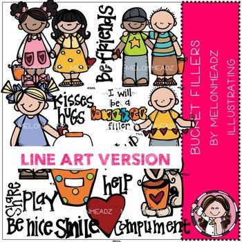 Mallori's bucket filler clip art - LINE ART- by Melonheadz