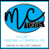 Mallory Cameron Fonts - Volume 1