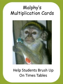 Malphy's Multiplication Playing Cards Set 1 Tables 1- 4