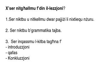 Malti komponiment - Pajjiz li nixtieq inzur