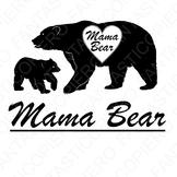 Mama Bear SVG files for Silhouette Cameo and Cricut.