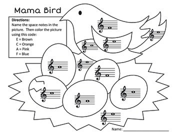 Musical Coloring Pages for Spring {Color by Music Symbols} with ... | 270x350