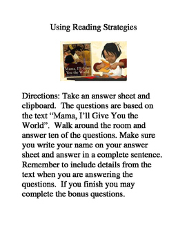 Mama, I'll Give You the World- Reading Strategies and Skills Review