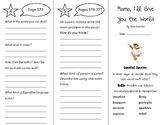Mama I'll Give You the World Trifold - Wonders 4th Grade Unit 5 Week 1