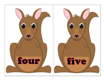 Mama Kangaroo and Her Joey Are Learning Numbers and Number Words 0 to 100
