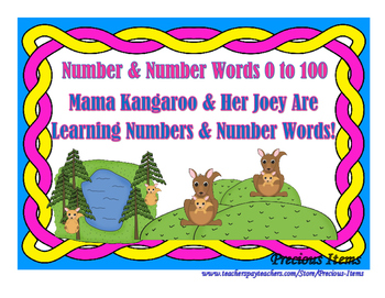 Mama Kangaroo and Her Joey Are Learning Numbers and Number
