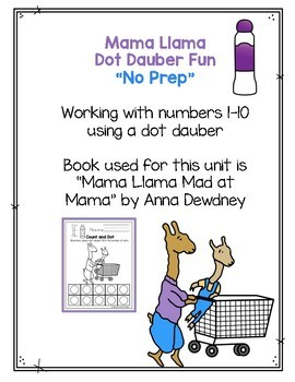 Mama Llama Dot Dauber Fun